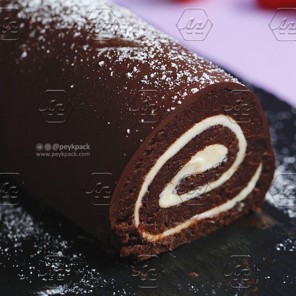 رول کیک شکلاتی خانگی