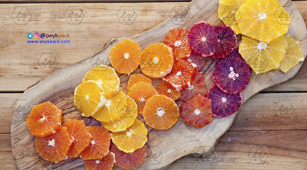 حلقه های بی پوست پرتقال های رنگی